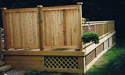 Deck With Cedar Privacy Fence