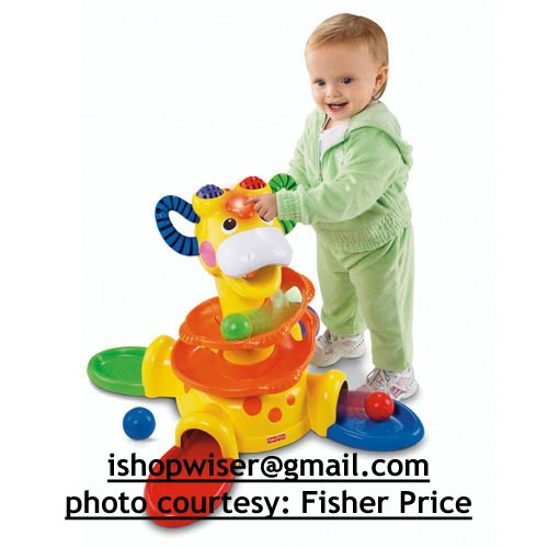 Shopwiser Fisher Price Sit To Stand Giraffe Toy