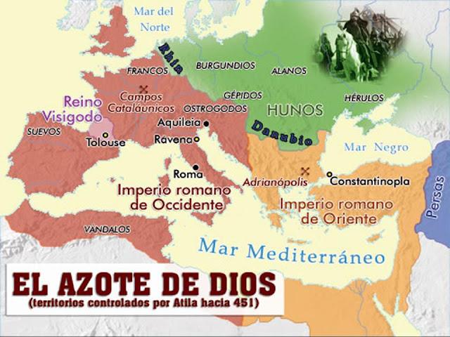 Resultado de imagen para Atila y la invasion a roma