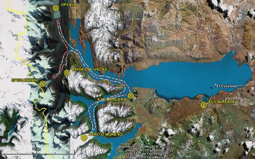 Crucero por el Parque Nacional de los Glaciares. Patagonia Argentina. Agosto 2007