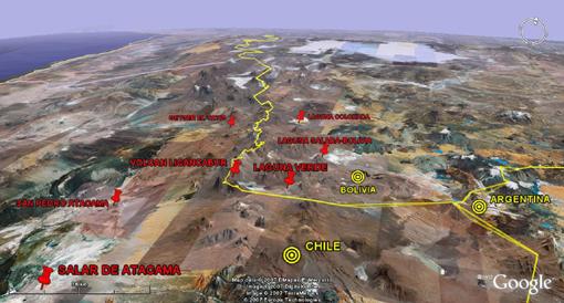 Desierto de Atacama, Chile y Bolivia, Verano 2007