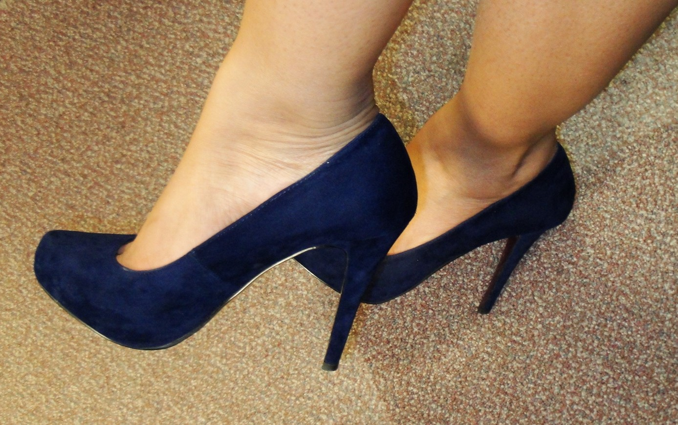 57ae70854871 The Fancy Face  Navy Blue Suede SHOES