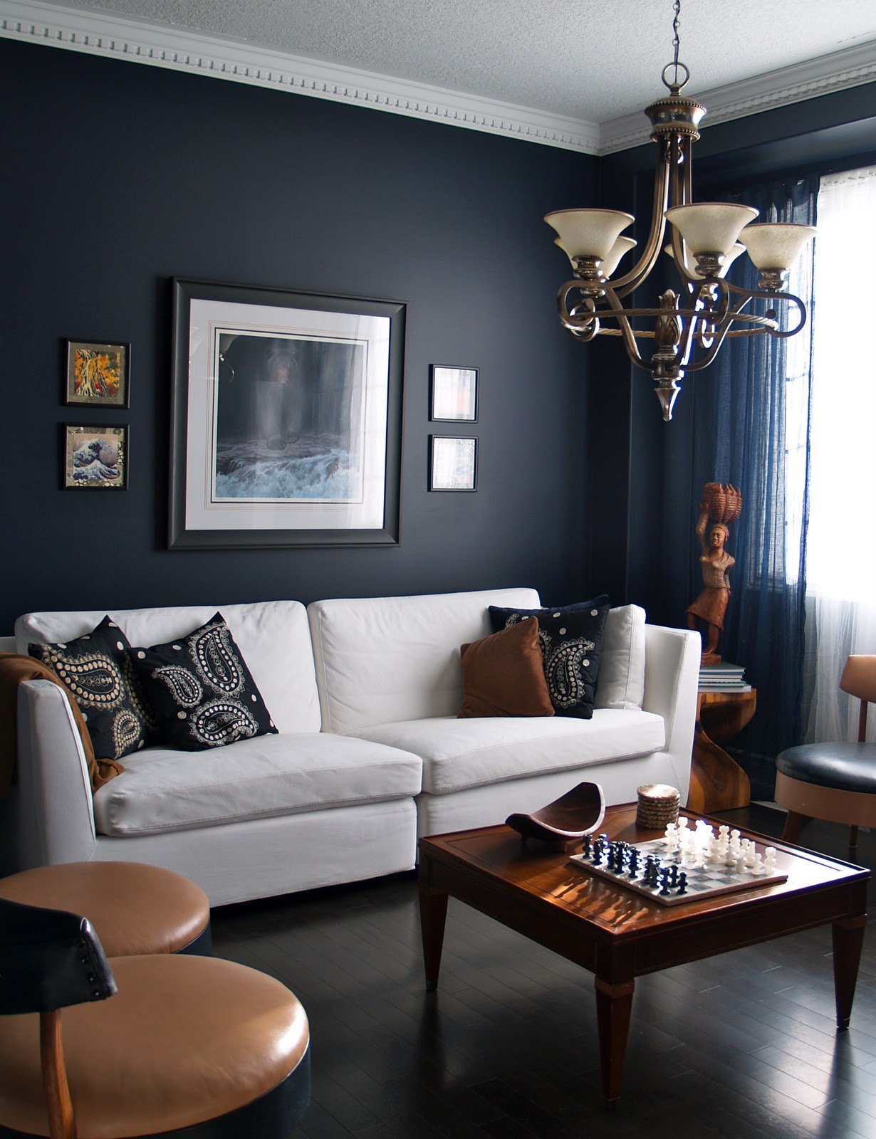 Living Room Wall: 10 Rooms: Slinky Inky Blue Walls..The Quiet Room