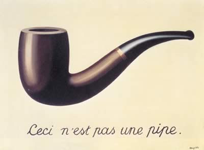 Magritte: Ceci n'est past une pipe