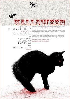 Cartaz da Festa de Halloween 2007 da Espontânea