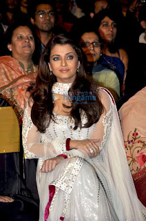 Aishwarya In White Salwar Kameez During An Event