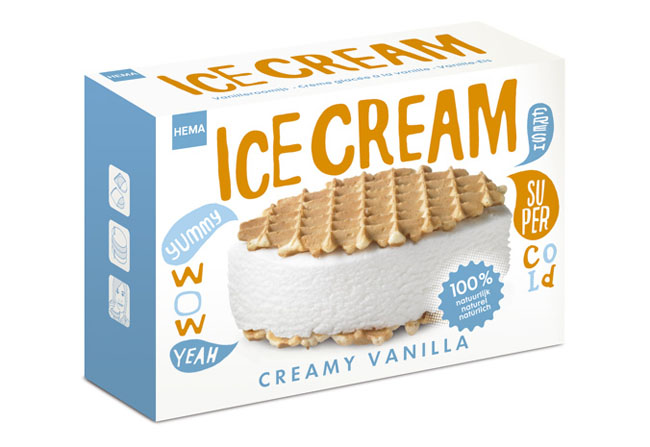 Hema Ice Cream On Packaging Of The World Creative