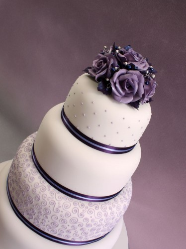 Cakechannel Com World Of Cakes 4 Tier Round With Purple
