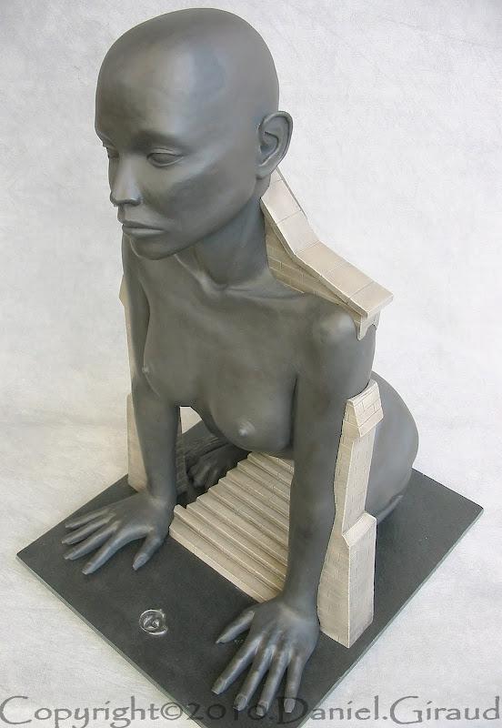 statue mythologique oedipe ou le sphinx