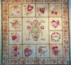 Vintage Valentine Quilt - found border fabric - and have it in hand it has arrived.