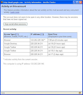 IP address in Gmail