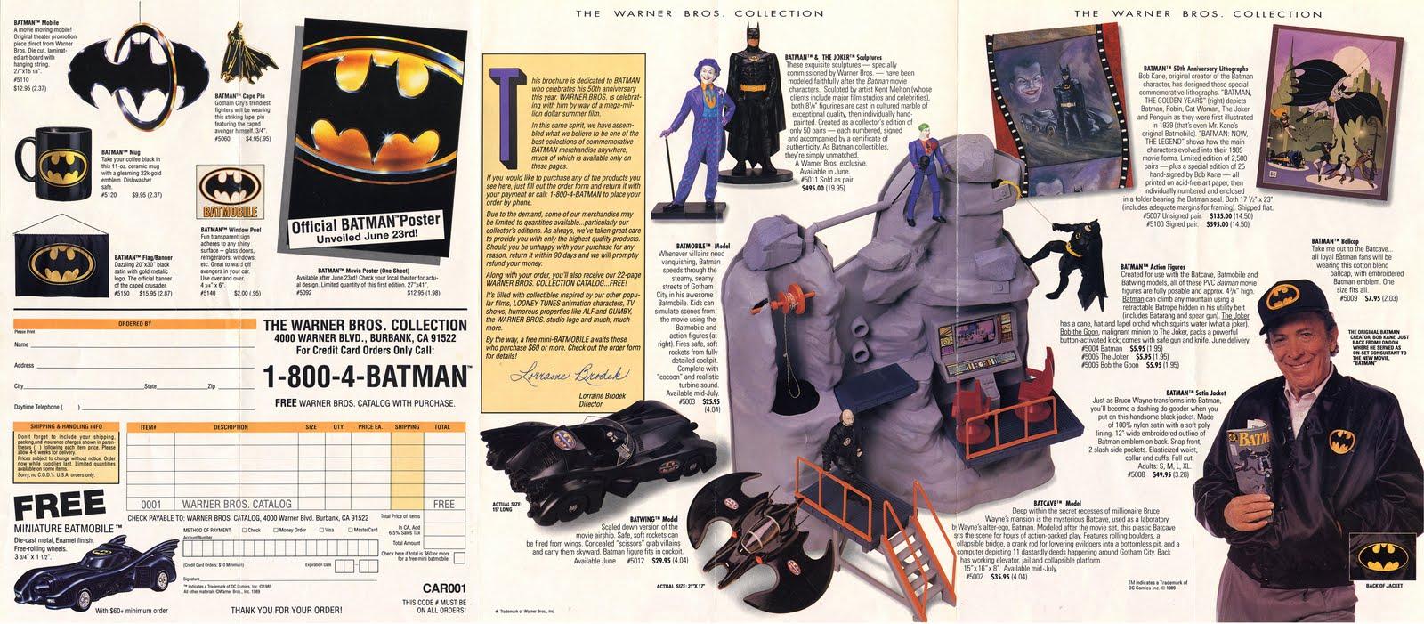 Under the Giant Penny: 1989 WB Batman Catalog Brochure