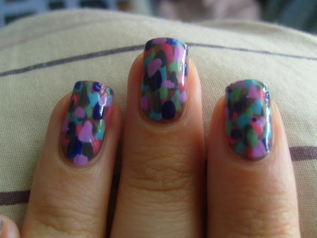 little curly girl nail art