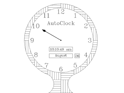 CADing && Coding: AutoClock - An AutoCAD Digital cum Analog