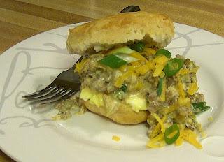 Egg & Sausage Gravy Sandwiches