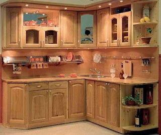 Kitchen Corner Cabinet Garden Windows Cabinets Open Design On Small Trends Ideas For Spaces