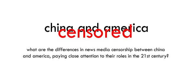 Censorship in China and America