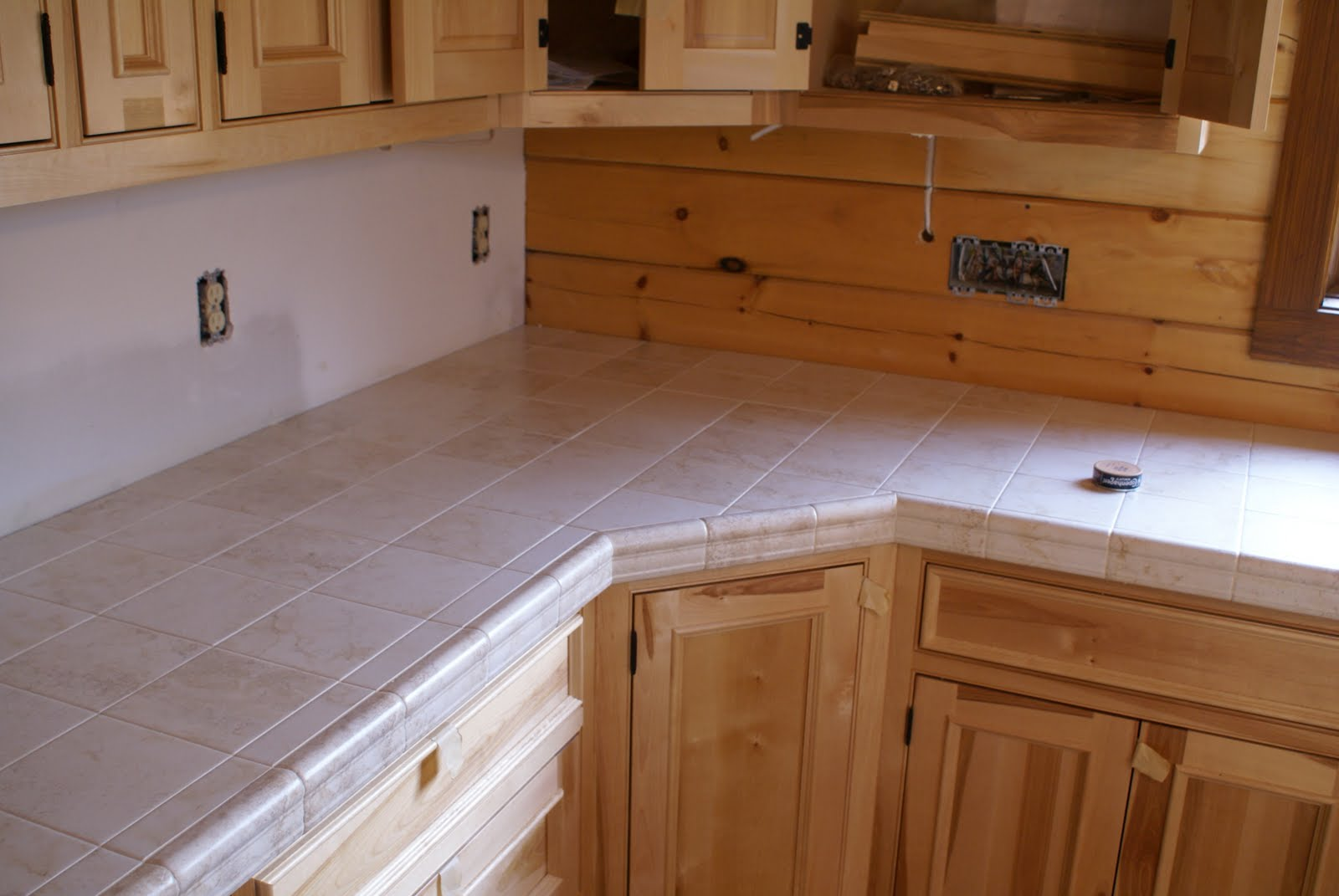 kitchen tile countertops narrow cart hidden bend retreat romney west virginia countertop