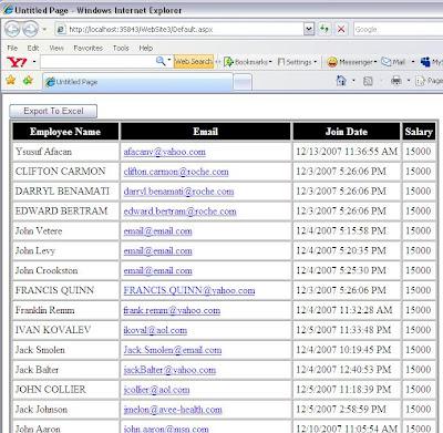 Export datagrid to Excel in asp net (Revised) - Asp Net, C#, SQL Blog