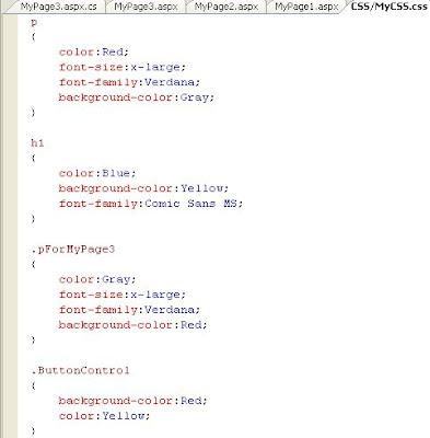 Applying CSS to Asp net Application - Asp Net, C#, SQL Blog
