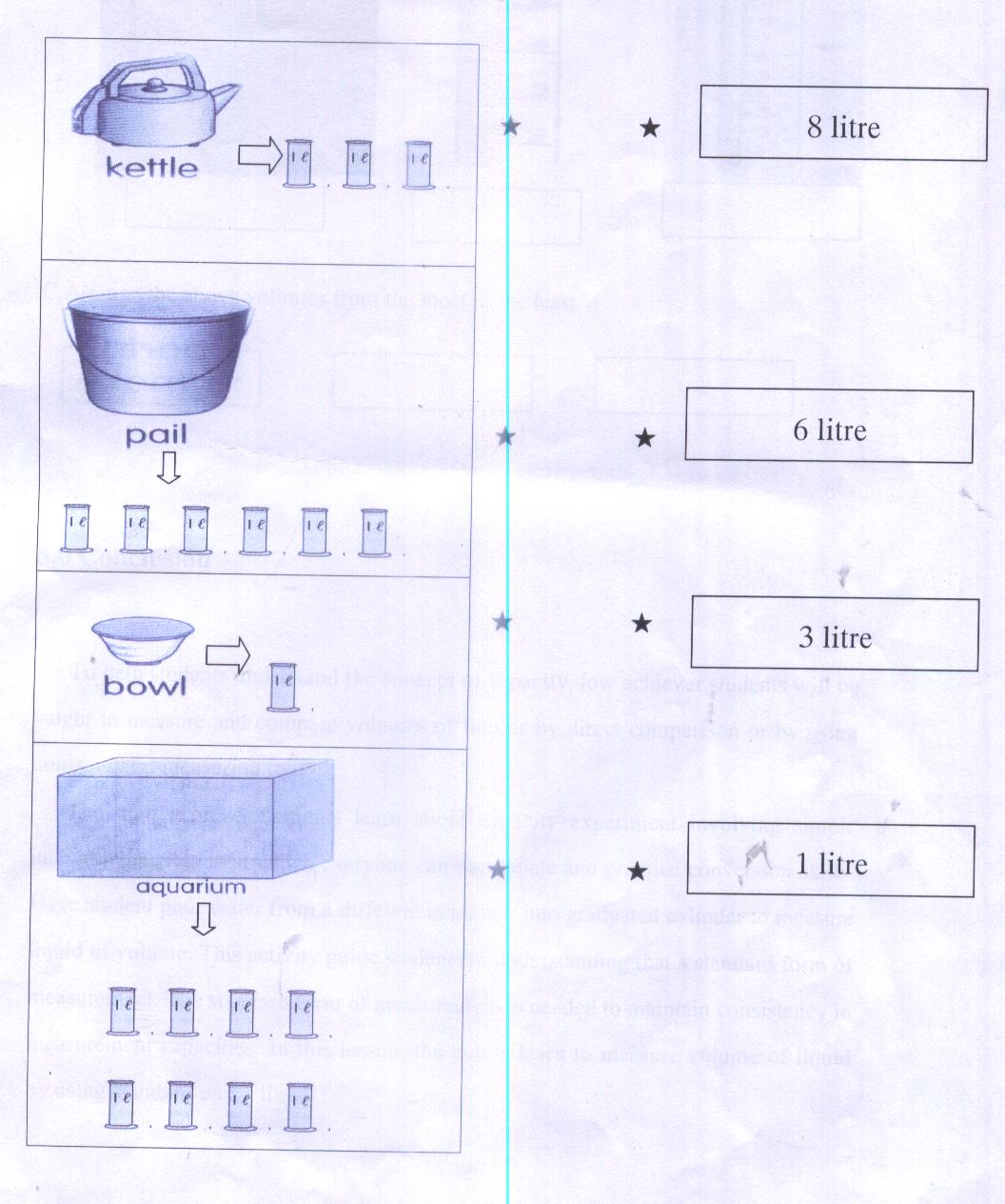Reading Volume Graduated Cylinder Worksheet