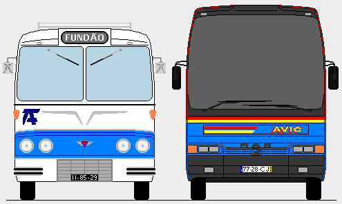 PORTUGAL BUSES DESIGN... and Miniatures