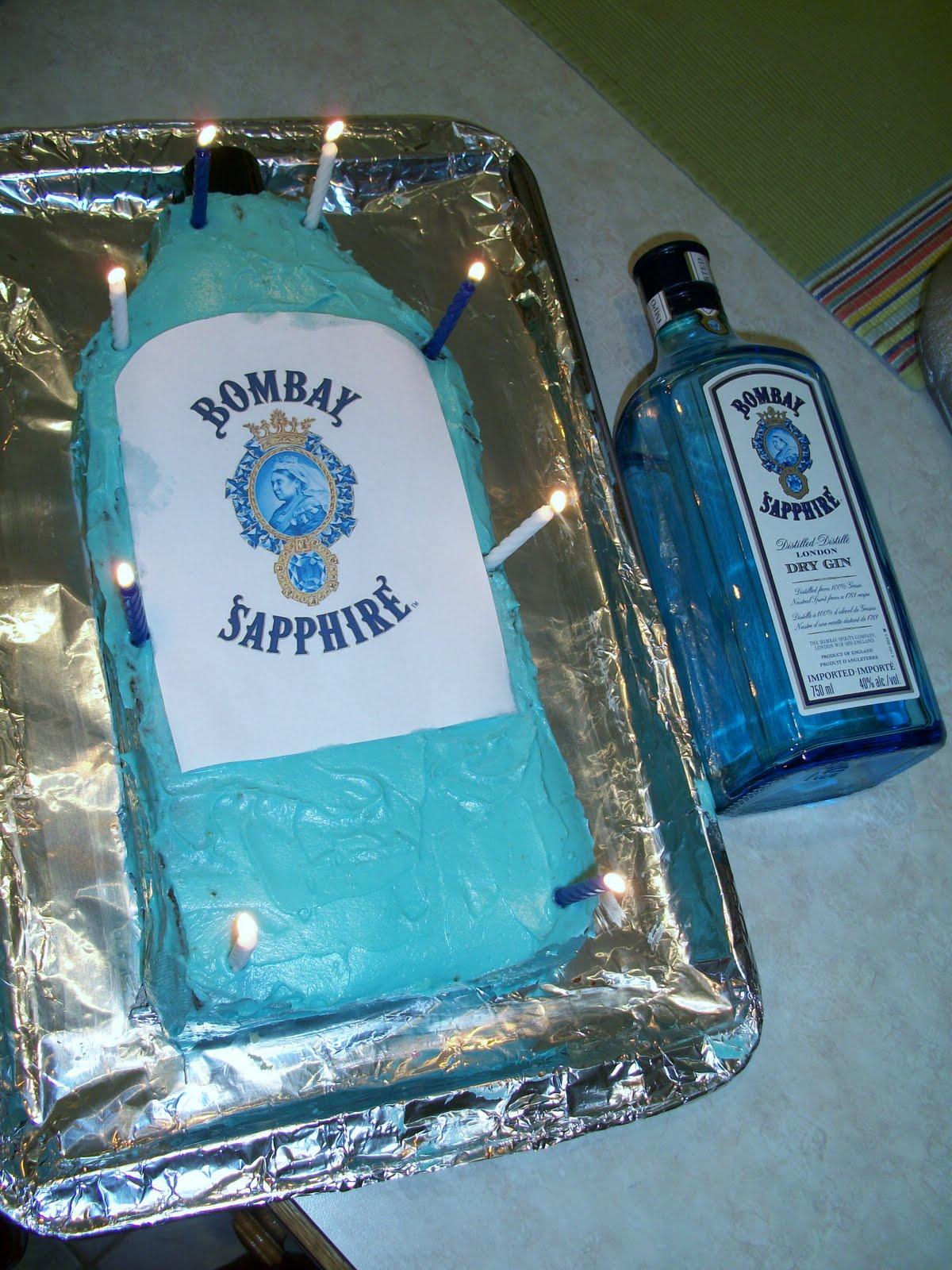 Brooke Bakes Bombay Sapphire Birthday Cake