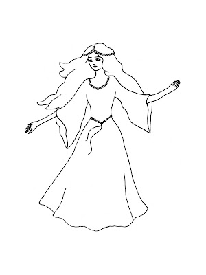 Princess Coloring Pages: More Free Princess Coloring Pages