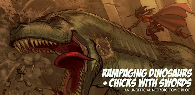 Rampaging Dinosaurs + Chicks with Swords