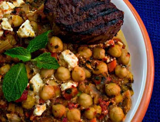 Chickpea Stew with Mint and Feta from Mediterranean Cooking in Alaska