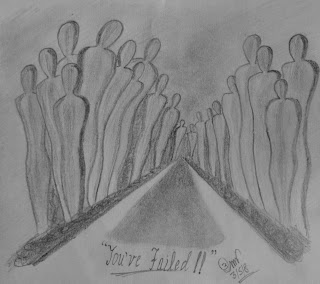 Sketch depicting Failure by Rasagy Sharma aka RaSh!