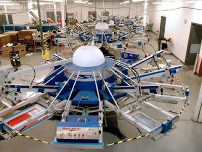 giant screen printing machine