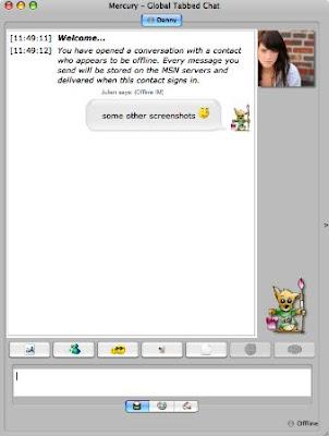 Mercury Messenger – Java MSN Windows Live Messenger IM Chat