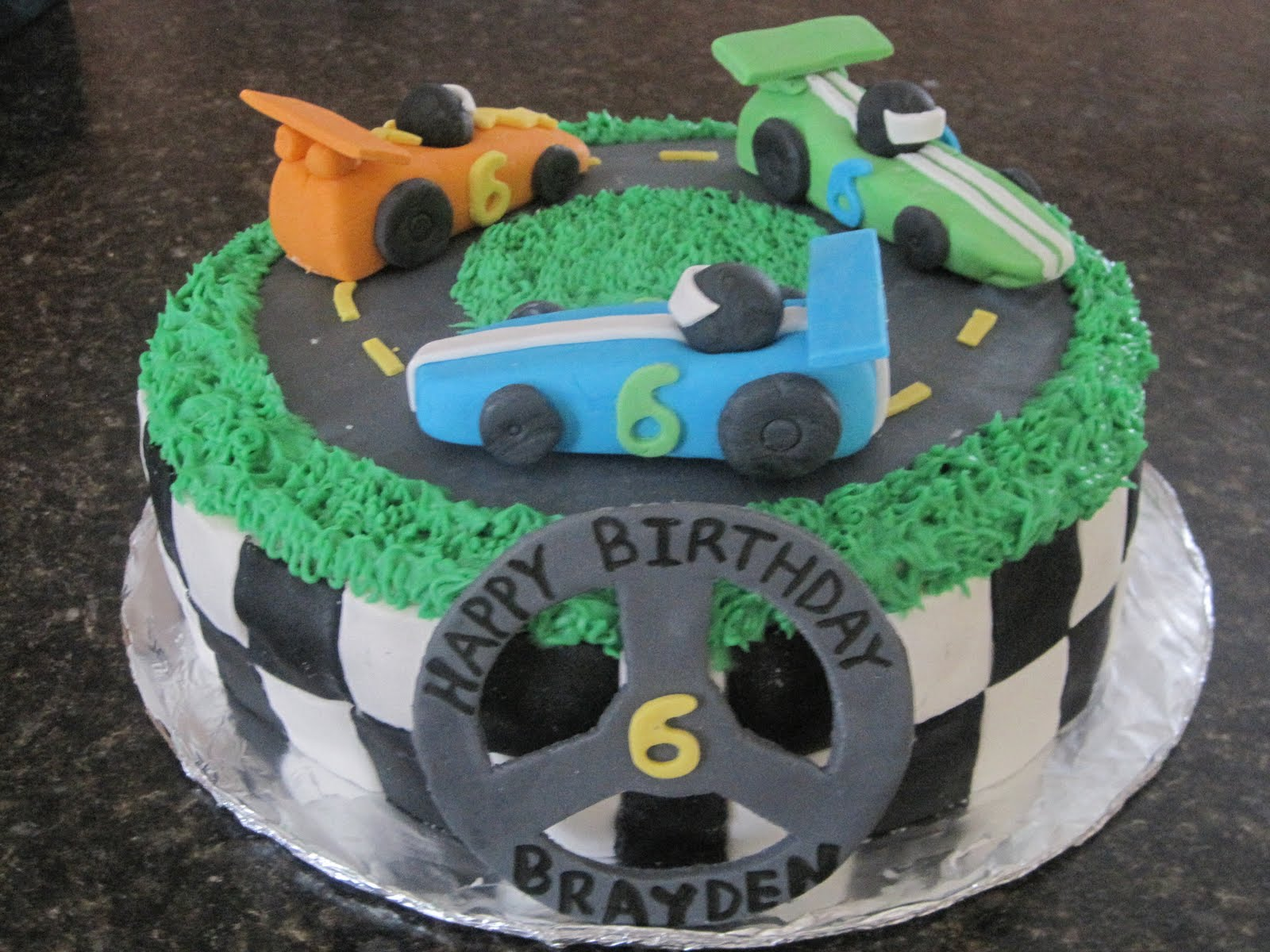 Sweet Escape Race Car Birthday Cake