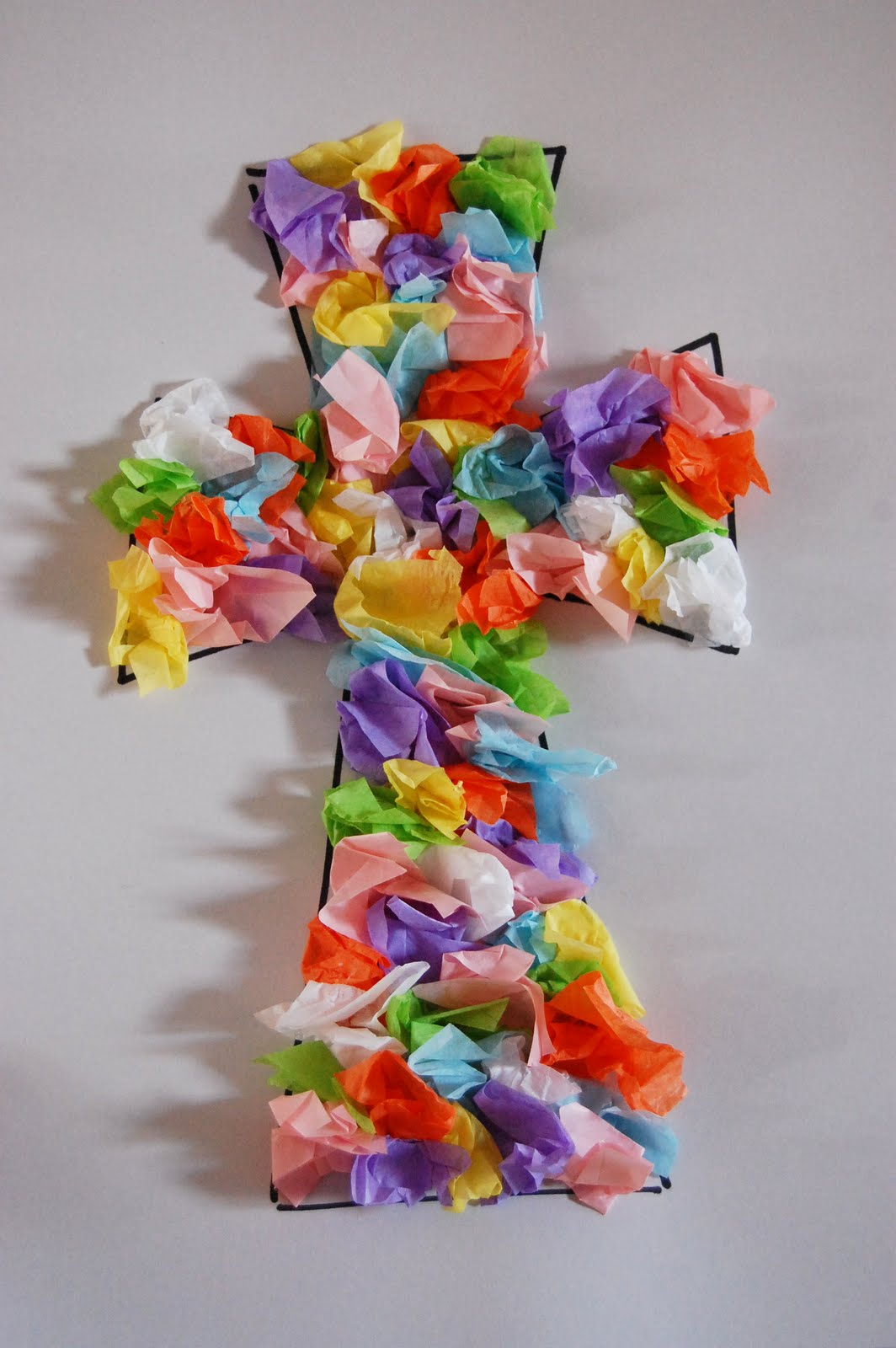 In Light Of The Truth Preschool Craft Easter Cross