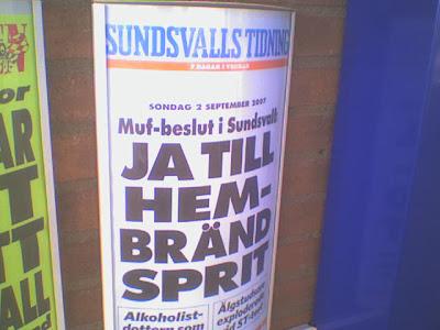 Sundsvalls tidnings löpsedel den 2 september 2007. Foto: Jacob Lundberg