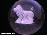 Marble Forum, marbles, glass, Germany, sulphide, lion, collectible, collector, Joan Beam