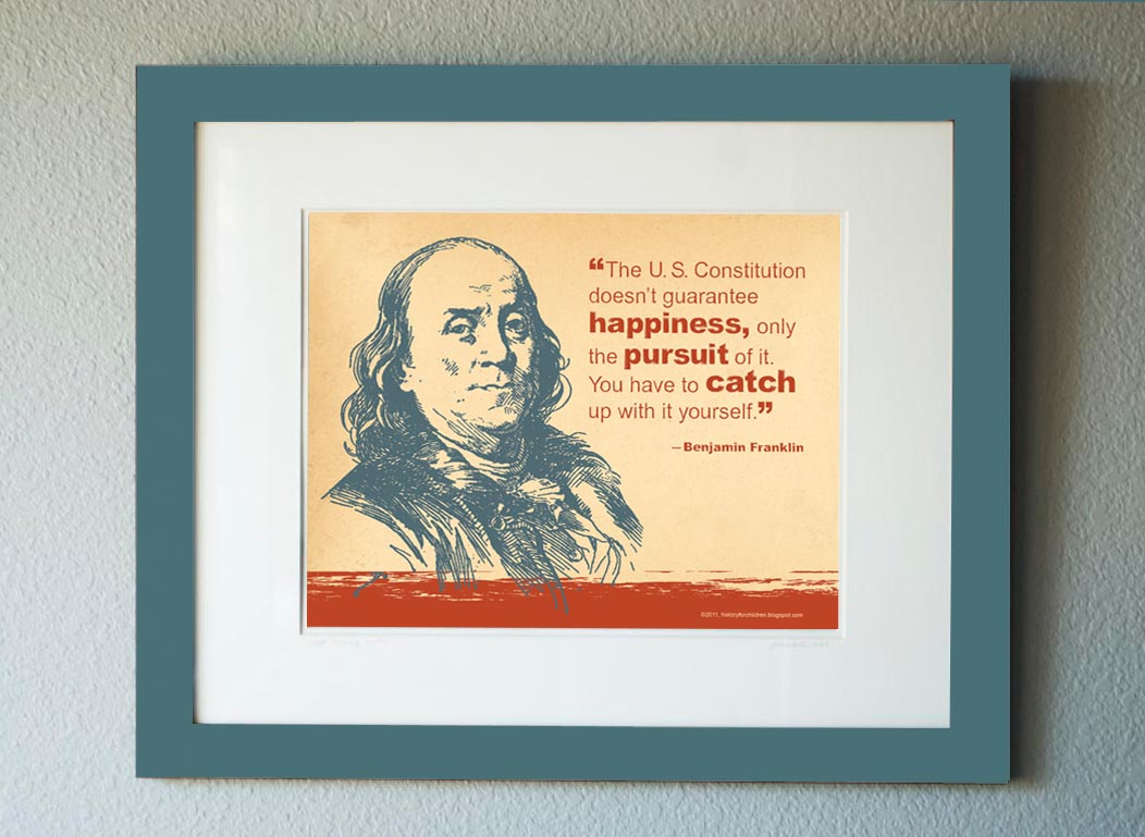 History For Children Free Benjamin Franklin Quote Print