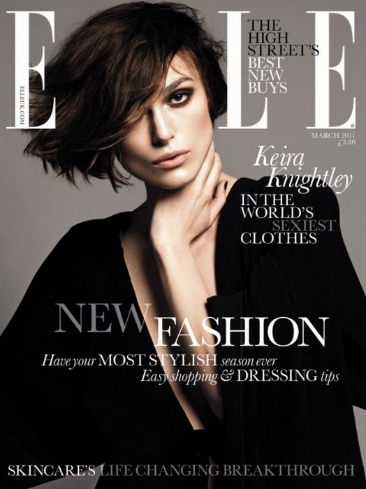 ELLE UK March 2011 Cover - Keira Knightley by Terry Tsiolis