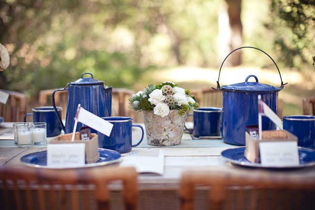 Paper And Thread: Rustic Yet Pretty Camping Theme Wedding