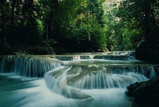 Erawan Waterfall in Kanchanaburi Thailand