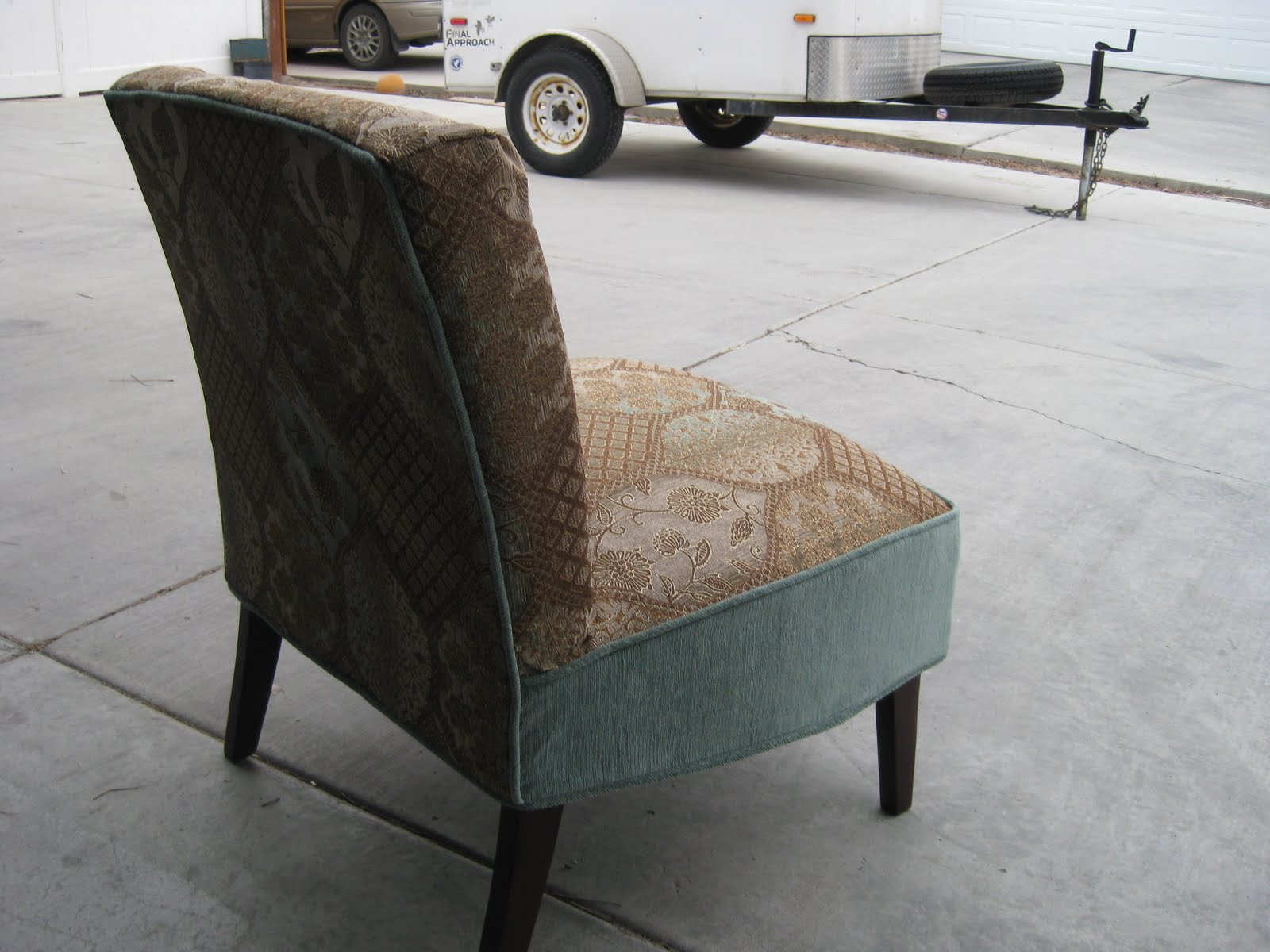 slipcover for armless slipper chair bean bag filler custom slipcovers by shelley