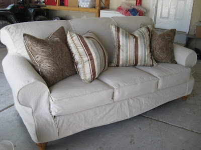 Couch after made of painter dropcloths a3e9df852508