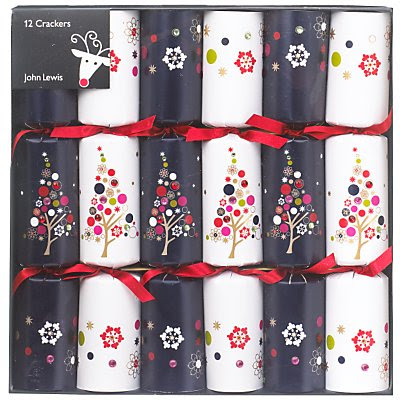 Wee birdy shopping in knightsbridge christmas tree crackers blue and white reduced to 10 for a set of 12 from john lewis each cracker contains a gift motto and hat solutioingenieria Gallery