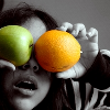 Orange and Apple Eyes by Con-Safo
