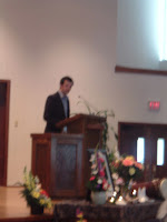Dylan, Autumn's brother, speaking at the funeral.