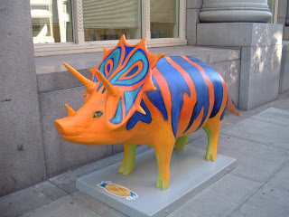 Swinosaurus, in front of United Way.