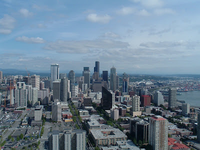 Last view of downtown Seattle, from the Needle.