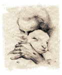 """He Gathers His Lambs in His Arms"""