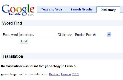 Ancestor Search Blog: Google Translation Dictionary